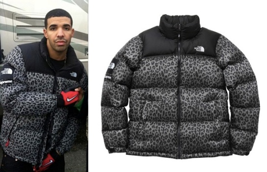 f4d9c051ed He was spotted flossing a leopard print Nuptse Down Jacket from Supreme s  continuing collaboration with The North Face.